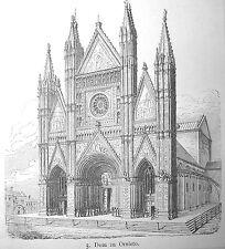 ORVIETO, Italia. Orig. Stich ca. 1890
