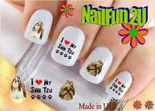 "RTG Set#152 DOG BREED ""I Love Shih Tzu 2"" WaterSlide Decals Nail Art Transfers"