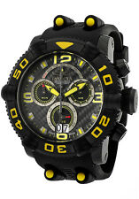New Mens Invicta 12258 Sea Hunter Chronograph Black Carbon Fiber Dial Watch