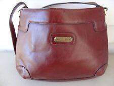 Vintage ETIENNE AIGNER Genuine Leather Hand Shoulder Bag Purse, Burgundy
