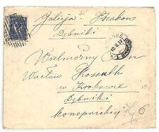 SS101 1912 Russia Poland to Kraków 'Galicija' Galicia Austria Hungary
