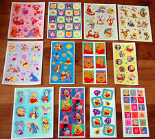 12 Sheets Disney Winnie the POOH Scrapbook Stickers! Tigger Piglet Eeyore