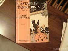 John Thompson: Castanets and Tambourines, piano solo (Willis)