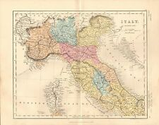 1868 ANTIQUE MAP-ARCHER- ITALY, NORTHERN PART