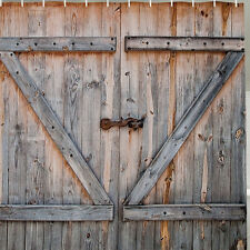 Rustic Country Barn Doors Old Wood Distressed Boards Fabric SHOWER CURTAIN Bath