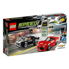 75874 LEGO Chevrolet Camaro Drag Race Speed Champions Age 7-14 / 445 Pcs / NEW