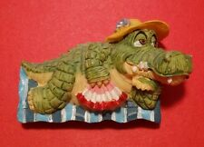 3D Crocodile Fridge Magnet Vintage