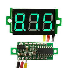 Mini DC 0 to 100V GREEN LED Panel Voltage Meter 3 Digital Display Voltmeter .