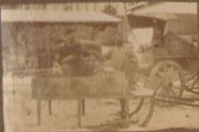 88 HADOL ? WAR KRIEG GUERRE 14/18 TOUTE PETITE PHOTO RAVITAILLEMENT EN TRAINEAU