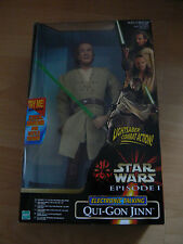 HASBRO STAR WARS PHANTOM MENACE QUI GON JINN 12INCH FIGURE NEW MINT IN BOX