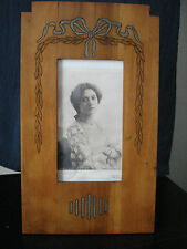 BELLA GRANDE secessionista, Art Nouveau Jugendstil RARA CORNICE LEGNO ORIGINALE