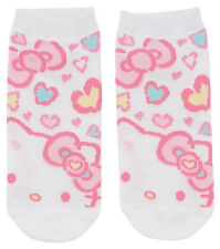 NEW SANRIO HELLO KITTY SOCKS woman size for shoe size 5 1/2 - 7 PINK HEARTS