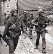 WW2 Photo WWII US Soldiers Europe M1 Garand P38 Wine BAR World War Two   / 1418