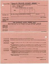 GB TELEGRAPH MONEY ORDER ORIGINAL FORM 1944 WW2 MINT UNUSED