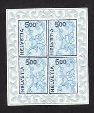 Switzerland SCOTT# 1075a Embroidered Unique Helvetia Swiss MNH Stamp Sheet of 4