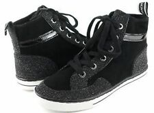 NEW ARRIVAL! COACH PITA BLACK METALLIC HI-TOP SNEAKERS SHOES 7.5 38 $148 SALE