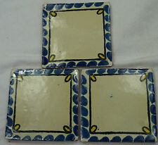 1x Hand-Made Ceramic Mexican Wall Tile Hand Painted Mexico Terracotta Tiles R20