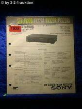 Sony Service Manual STR AV220 / AV220A / AV320R / AV320RA Receiver  (#1928)