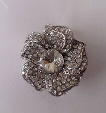 Flower Diamante Brooch ,bridal cake topper 2 cm