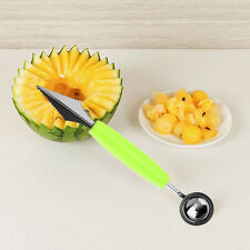 Mini 2 in 1 Dual Use Fruit Dig Ball Scoop Spoon Carving Ice Cream Melon Baller