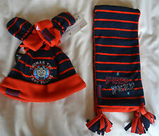 M&S baby boys Thomas the Tank fleece hat/mitten/scarf set age 6-18 months BNWT