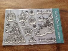 Lelli-Bot Crafts ~ Frosted Christmas ~ A5 Clear Acrylic Stamps Set