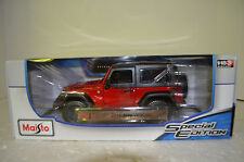 Maisto 2014 Jeep Wrangler Willys Red and Black Special Edition 1/18 Scale