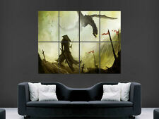 SAMURAI WARRIOR DRAGON ART WALL LARGE IMAGE GIANT POSTER HUGE !!!