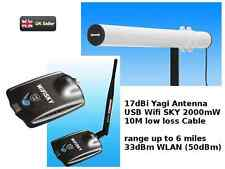 WiFi Outdoor 34dBm (51dBm) 2000mW Yagi Antenna 5M cable Melon Booster USB 17dBi