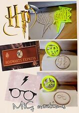Harry Potter 3 un. Cookie Cutter solemnemente travesuras 9 3/4 Cupcake topperfondant