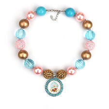 Cupcake Queen Shopkins Pendants Chunky Bead Bubblegum Necklace For Kid