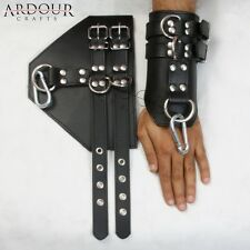 100 % Genuine Real Heavy Leather Wrist Arms Cuffs Bondage Restraint Heavy Buckle