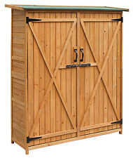 Merax Wooden Garden Shed with Cedar Wood Medium Storage Shed with Double Doors