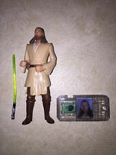 New 1998 STAR WARS Episode I Qui-Gon Jinn Jedi Dual w/ Lightsaber (RR)