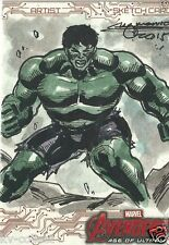 Marvel Avengers Age of Ultron Sketch Card hulk