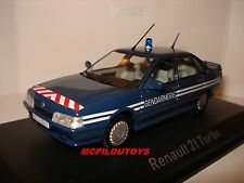 NEW NOREV RENAULT 21 TURBO GENDARMERIE FRANCE 1989 au 1/43°