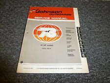 1978 Johnson 55 HP Models Outboard Motor Shop Service RepairTechnical Manual