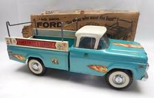 Vintage NYLINT FORD SALES AND SERVICE PICK UP TRUCK  w/ box Pressed Steel toy