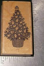 Hero Arts ~ Decorated Christmas Tree ~ Mounted Rubber Stamp