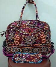 Vera Bradley Crossbody Messenger Laptop Travel Bag in SAFARI SUNSET
