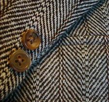 40 R BROOKS BROTHERS Vtg Brown HERRINGBONE Wool TWEED 3B Jacket Blazer Sportcoat