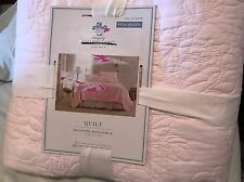 Simply Shabby Chic Pink Rose Stitched Full Queen Quilt Only NWT Girls