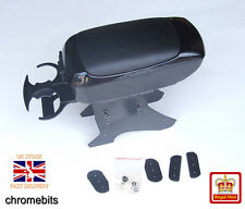 BLACK Universal Armrest Arm Rest Console CARAVAN VAN CAR BUS NEW