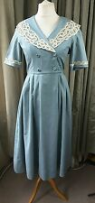Vintage 80s Laura Ashley Colonial Edwardian Holiday Sailor Dress - Size 12