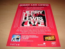 JERRY LEE LEWIS - LAST MAN !!LIVE!!! PUBLICITE / ADVERT