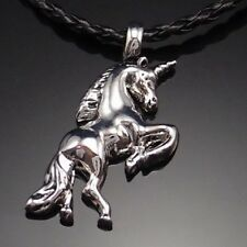 "Silver Pegasus Unicorn Horse Pewter Pendant with 20"" Choker Necklace PP#246"