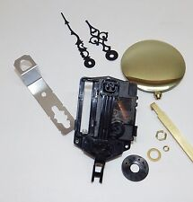 "Seiko Mini Quartz Battery Pendulum Clock Movement NEW 5/8"" Shaft 1/4"" Thick Dial"