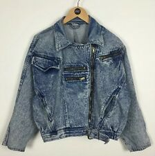 Denim Jacket / Medium / 80's 90's / Funky Fashion / Street / Biker