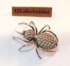Spinnen Brosche 800 er Silber Insekt Insektenbrosche / AS 733