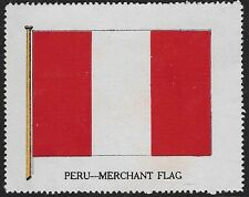 Cinderella Poster stamp issued during WWI: 1825 Flag of Peru (dw615)